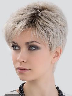 Love Comfort by Ellen Wille Wigs – Lace Front Wigs - Weißes Haar Short Hairstyles For Thick Hair, Short Grey Hair, Haircut For Thick Hair, Short Pixie Haircuts, Curly Hair Styles, Short Hair Cuts For Women Over 50, Short Hair Over 60, Short Hair Older Women, Casual Hairstyles
