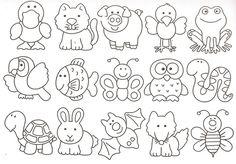 desenhos moldes animais artesanto eva feltro pintura (2)