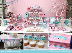 Birdcage 1st Birthday Printable Set. Styling by Styled by Belle.