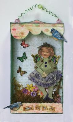 Happy to be Me Assemblage Mixed Media Decoration  by:-eclecticmoon