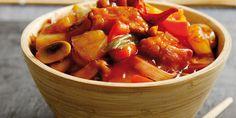 Γλυκόξινο χοιρινό σε όλες τις κουζίνες Pork, Ethnic Recipes, Sweet, Kale Stir Fry, Candy, Pork Chops