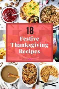 Don't stress this Thanksgiving week! Here are 18 of the most festive and delicious turkey-day recipes to round out your epic feast! Easy Asian Recipes, Tofu Recipes, Healthy Dinner Recipes, Thanksgiving Dinner Recipes, Holiday Recipes, Vegetable Dishes, Plum, Festive, Easy Meals