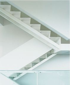 :: STAIRS :: adore the work of Dominique Vorillon. Lovely bent steel staircase detail #stairs