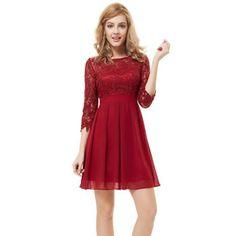 Cdiscount robe de soiree rouge