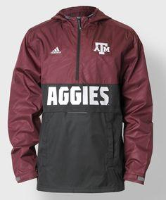 Texas A&M rain jacket by Adidas. #AggieGifts #AggieStyle