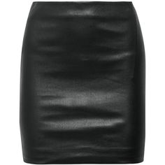 The Row Loattan stretch-leather mini skirt ($1,630) ❤ liked on Polyvore featuring skirts, mini skirts, saias, the row, black, short leather skirt, real leather skirt, stretch leather skirt, leather miniskirt and short skirts