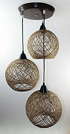 Handmade Lamps, Handmade Furniture, Home Decor Furniture, Home Decor Items, Diy Home Decor, Chandelier Makeover, Chandelier Art, Diy Crafts To Do, Diy Arts And Crafts