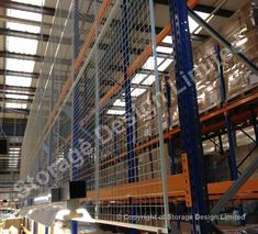Mesh on back of pallet racking Pallet Racking, Storage Design, Project Management, Louvre, Mesh, Building, Projects, Travel, Log Projects