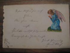 Overige - Een duits versje uit een antiek poesie album..1890 - Een uniek product van AntiquesArts op DaWanda
