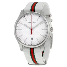 Gucci Men's 'G-Timeless' green and red Watch – Men's style, accessories, mens fashion trends 2020 Gucci Watches For Men, Gucci Men, Luxury Watches, Fashion Watches, Gucci Gucci, Men's Watches, Gucci Baby, Gucci Outfits, Male Outfits