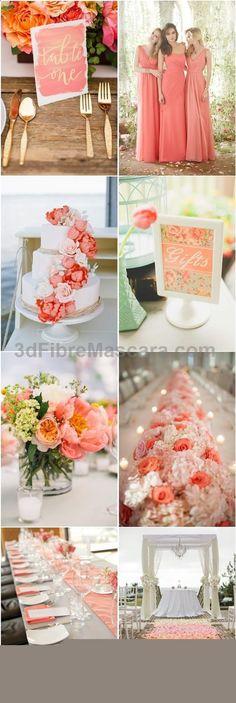 45 Coral Wedding Color Ideas you Don't Want to Overlook | www.deerpearlflow... #weddings #wedding #marriage #weddingdress #weddinggown #ballgowns #ladies #woman #women #beautifuldress #newlyweds #proposal #shopping #engagement
