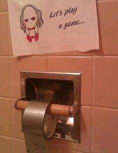 LOL! I'd sh*t my pants if I was in an unfamiliar rest room seeing this.  Hugs, Linda :)