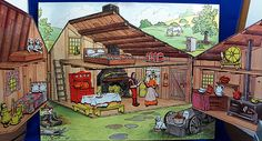 Inside the Little House on the Prairie Colorforms