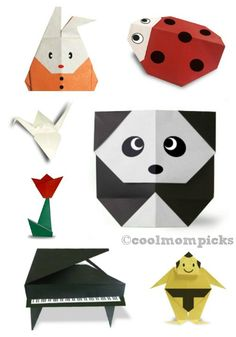 Origami for Kids - we found the motherlode site for dozens of projects and directions, all free