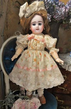 ~~~Lovely French Bisque Bebe Girl by Denamur ~~~ from whendreamscometrue on Ruby Lane