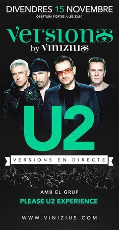 PLEASE U2 EXPERIENCE torna a #Vinizius #Mataro!! #concert #tribut #Maresme #Barcelona #U2 #rock #musica #concert #directe