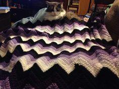 Purple chevron  - Crochet creation by Penny
