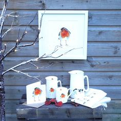 Country Living / Snowy Pheasant Illustration / Peter Robin Pint Jug