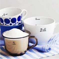 Löytyykö kaapista parittomia posliinikuppeja? Tee niistä kauniita mittoja! Sopii hyvin vaikka mökkituliaiseksi. Ohjeet kodinkuvalehti.fi. #kodinkuvalehti #diy #mökkituliainen #teeseitse