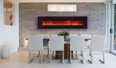 Have a larger space to fill? The Amantii WM-BI-76-8221 is a perfect solution. This electric fireplace is designed to be wall mounted or built-in. It comes with an LED ember log set and three colors of decorative media. #homedecor #interiordesign #contemporaryfireplace #fireplace #ventlessfireplace #ventless #modern #contemporary #modernhome #home #fireplaceideas #electricfireplace #moderndesign #remodeling