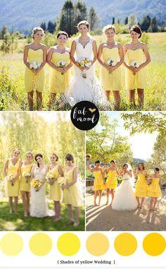 Yellow Green Wedding Colors   http://fabmood.com/yellow-green-wedding-colors/