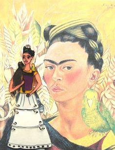 Frida Kahlo con scimmietta di Martimmuma su DaWanda.com