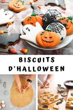 Réalisez de superbes biscuits d'Halloween ! Terriblement mignons, ces petits biscuits croquants et joliment décorés sont tout aussi amusants que délicieux en bouche ! Une recette idéale pour préparer Halloween avec les enfants et créer de joyeux souvenirs. Qu'ils soient en forme de balais de sorcières, citrouilles démoniaques, fantômes et chauves-souris, vous n'en ferez qu'une bouchée ! Chocolat Halloween, Bolo Halloween, Halloween Snacks For Kids, Halloween Baking, Easy Halloween Decorations, Easy Halloween Crafts, Halloween Desserts, Halloween Cupcakes, Holloween Cookies