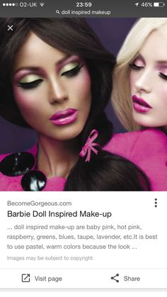 I like the way the make up and outfit is very doll like