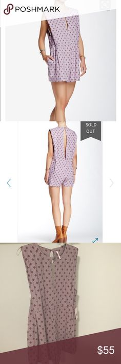 NWT Free people Ashley romper Brand-new never worn romper. Linen and rayon blend. Slightly  oversized and very comfortable with pockets. Super flattering. Free People Pants Jumpsuits & Rompers