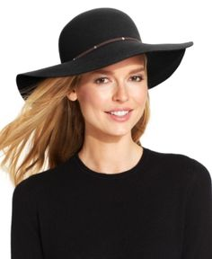e87b9ec75f2 Nine West Felt Floppy Hat with Faux Suede   Metal Handbags   Accessories -  Macy s