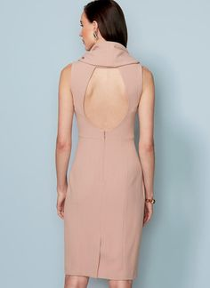 V1531 | Vogue Patterns https://www.moodfabrics.com/italian-rose-dust-stretch-polyester-crepe-312002