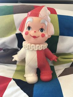 IWAI Industries Vintage Clown Baby Squeaky Toy 1971 made in