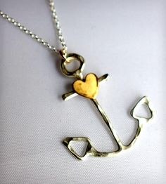 Anchor Necklace with Heart | Women's Jewelry | Rachel Pfeffer Jewelry | Scoutmob Shoppe | Product Detail