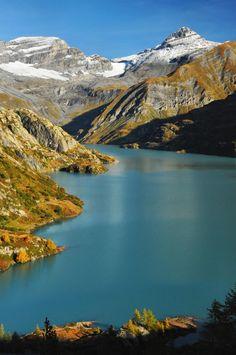 Lac d'Emosson (Canton du Valais) - Mont Ruan and Tour Sallière