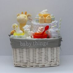 gender neutral baby gift basket baby shower gift unique baby gift by