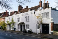 Former home of Percy and Mary Shelley, Marlow, Buckinghamshire, England. Mary Shelley wrote Frankenstein whilst living at West Street, Marlow, it was one big house now four cottages.
