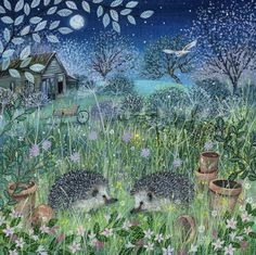 Suffolk Original Paintings For Sale Woodland Art, Whimsical Art, Landscape Illustration, Illustration Art, Woodland Illustration, Hedgehog Art, Original Paintings For Sale, Wildlife Art, Illustrations