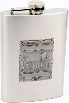 New 8 oz Stainless Steel Wedding Groom Liquor Hip Alcohol Flask & Filling Funnel