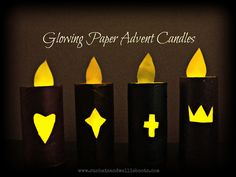 Glowing Paper Advent Candles