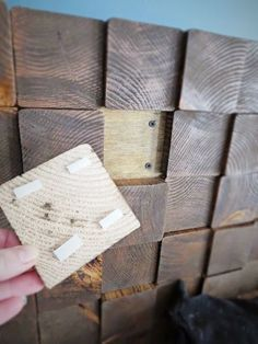 How To: DIY a Wood Block Headboard. - Flipping the Flip