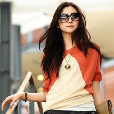 * colorblock top via YesStyle