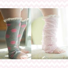 Katie, something like this only MUCH more princess/bright!  baby boot socks. boot socks. leg warmers. Toddler Leg Warmers. $15.00, via Etsy.
