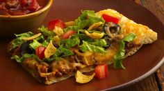If your family enjoys tacos, then why not top a pizza with the same delicious combination?  Easy and so delicious!