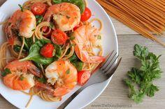 Easy Healthy Shrimp Scampi via @busybakerblog