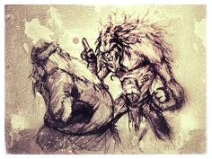 12 #Santa #claus #vs #Krampus #Christmas #character #monster #design #sketch #pencil #HappyHolidays #art #artist