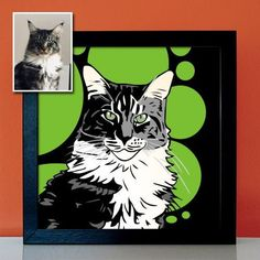 Your cat as graffiti artwork, street art, pop art, gift for cat lovers, cat owners Cat Lover Gifts, Cat Gifts, Cat Lovers, Pop Art Bilder, Graffiti Artwork, Pop Art Portraits, Retro, Original Image, Street Art