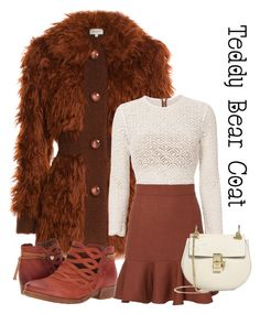 """Teddy bear coat"" by im-karla-with-a-k on Polyvore featuring Isa Arfen, Veronica Beard, Miz Mooz and Chloé"