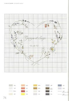 This Pin was discovered by Bur Cross Stitch Fruit, Small Cross Stitch, Just Cross Stitch, Cross Stitch Letters, Cross Stitch Heart, Cross Stitch Borders, Cross Stitch Flowers, Wedding Cross Stitch Patterns, Disney Cross Stitch Patterns