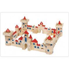 Castelo em Madeira. Fabuloso castelo em madeira. Contem 145 peças de madeira maciça . Medidas: 41,5x25,6x6,4xcm. Peso: 3,745 Kg.  Brincar e Aprender. Brinquedos Didácticos para Crianças. http://www.planetadidactico.com/home/140-castelo-em-madeira-.html