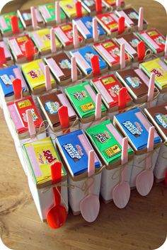 Miniature Cereal Box Valentines for the boys' classmates